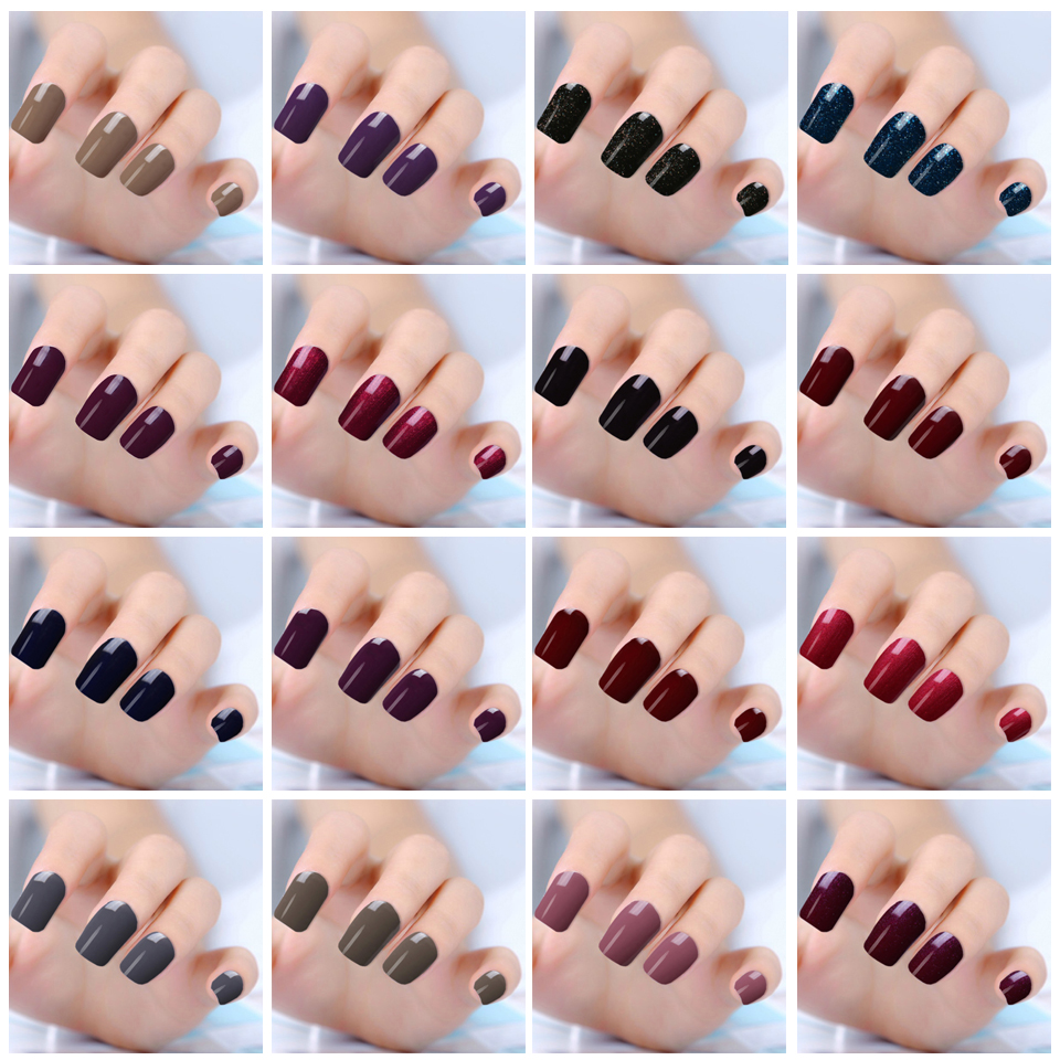 2017 Dark Color Soak Off Gel Nail Polish Lacquer Art Varnish Long Lasting Uv Led Set Manicure In From Beauty