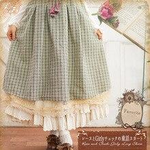 Plaid vêtements Vintage Kawaii