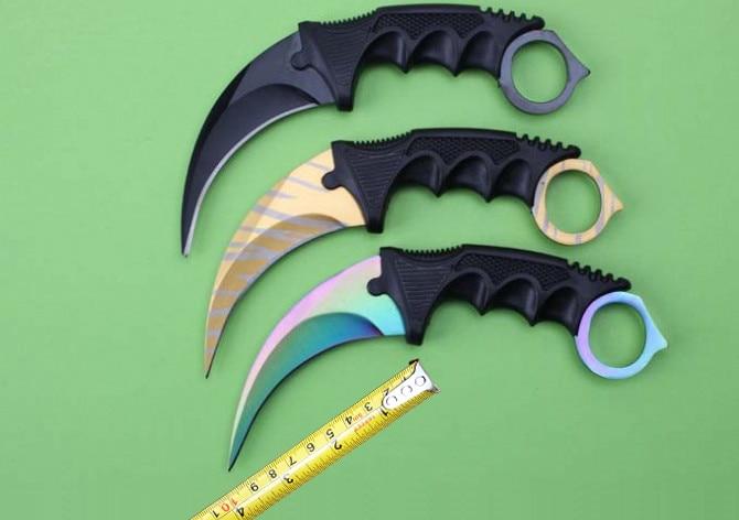 Toplu CS go Best Quality Outdoor Karambit font b Knives b font 440 Blade Rescue Camping