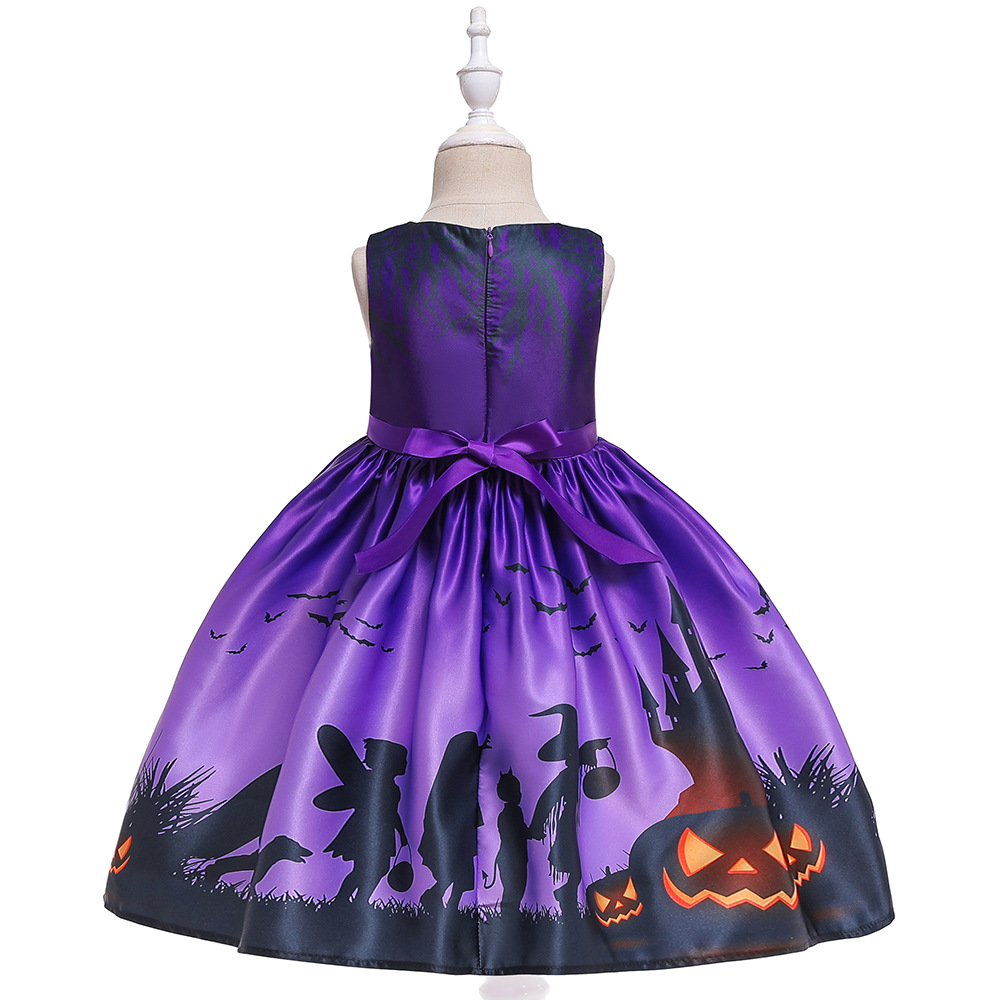 Girls Dresses For Kids 2019 Halloween Cosplay Party Dress Clothes Teens Princess Dress Hat Children Christmas Carnival Dresses (10)