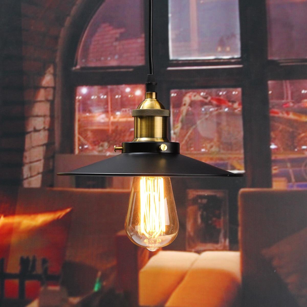 E27 Industrial Retro Vintage Iron Ceiling Lamp outdoor balcony Nordic creative vintage bedroom Pendant Light Chandelier Fixture