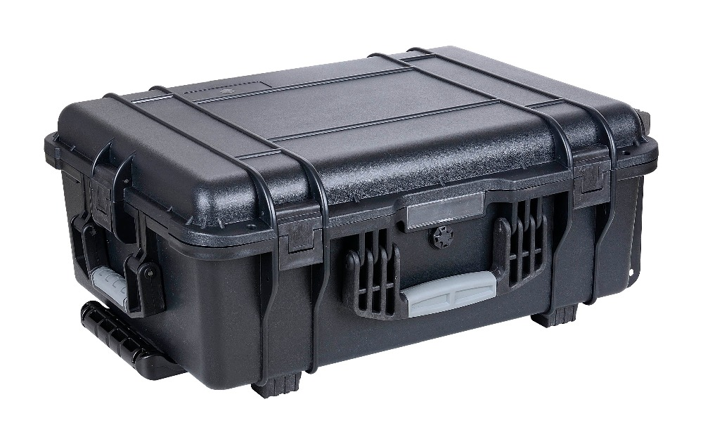 plastic shockproof waterproof camera case with wheels camera lens waterproof shockproof case dry storage seal box