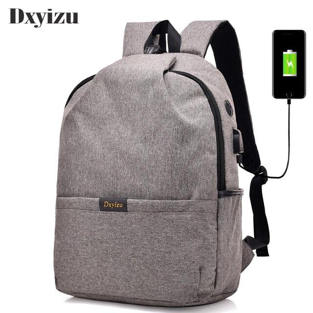 2018 New Men S Book Bags Usb Charging Backpack Rucksack Laptop Preppy School College