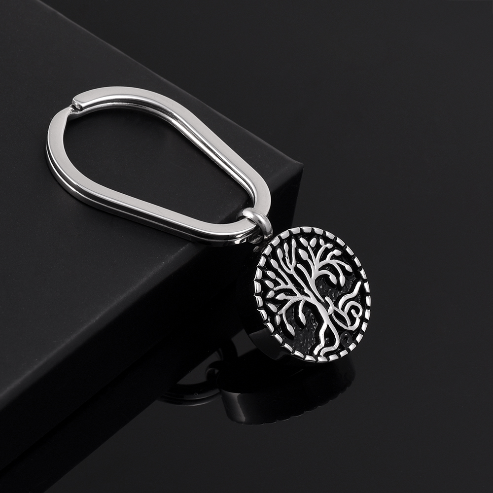 "CMK2056  Hot PVD Plated Keyring with ""Tree Of Life "" ashes Pendant  Cremation Keychain Keepsake  chaveiro