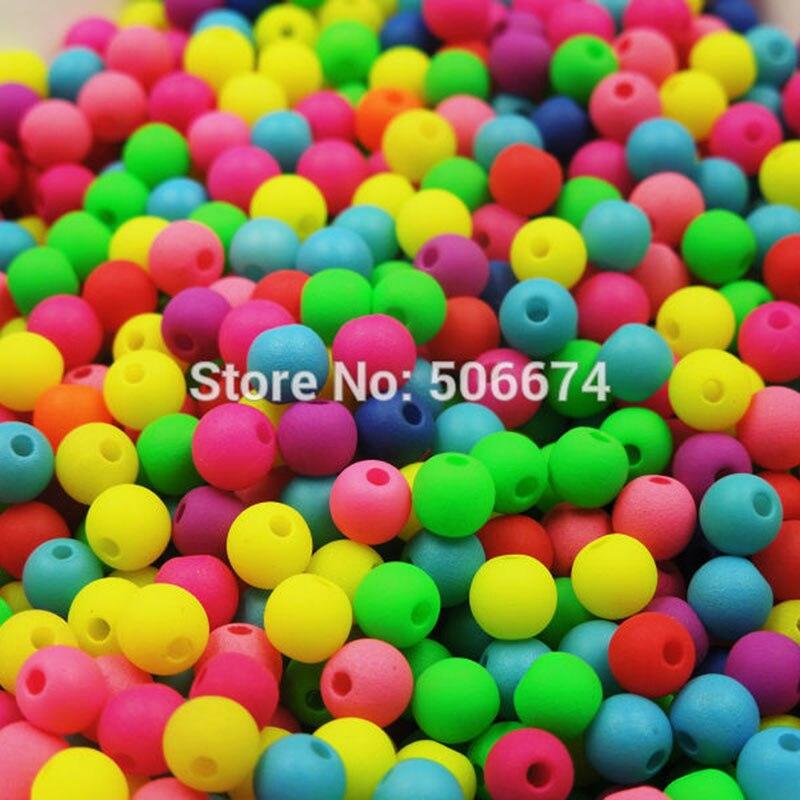 ᐃ300 piezas caramelo 8 color mezclado 5mm flojos redondos de ...