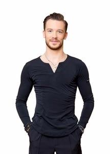 Image 4 - SuperStar Serie: G5008 latin modern ballroom dance professionelle elastische kristall baumwolle tops shirt für männer