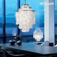 DIY Shell Pendant Light Diameter 26cm 38cm Shell lamps Fun 3 Circles seashell chandelier lights FUN pendant modern chandeliers