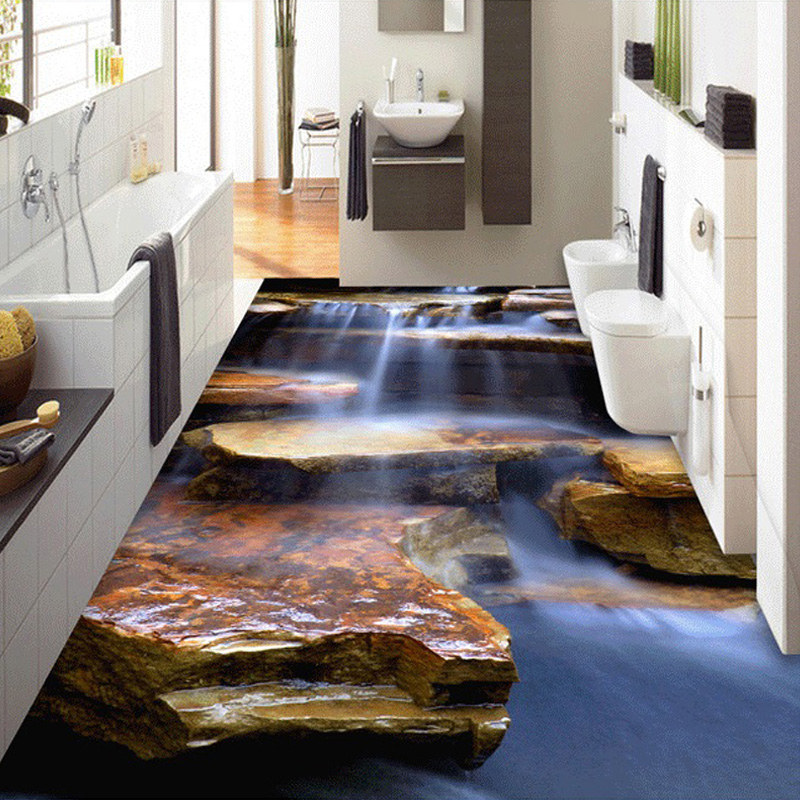 Custom 3d stereoscopic stone steps living room bedroom - Waterproof floor paint for bathrooms ...