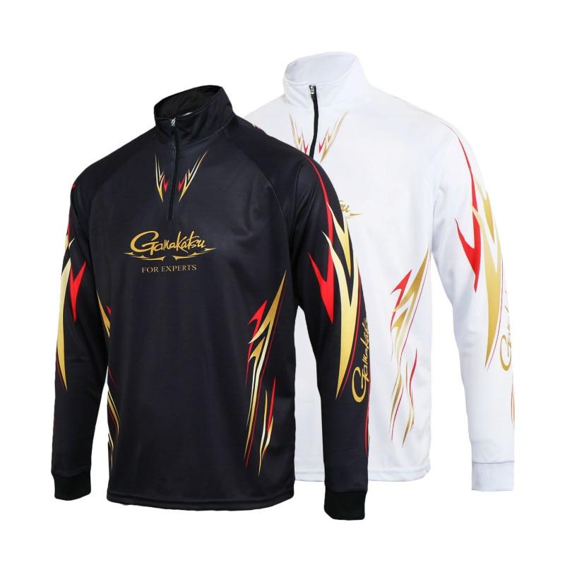 2018 summer New Gamakatsu Clothing Long Sleeve Quick Dry Fishing Clothing Anti-UV Sunscreen Fishing Vests Camisas AK002