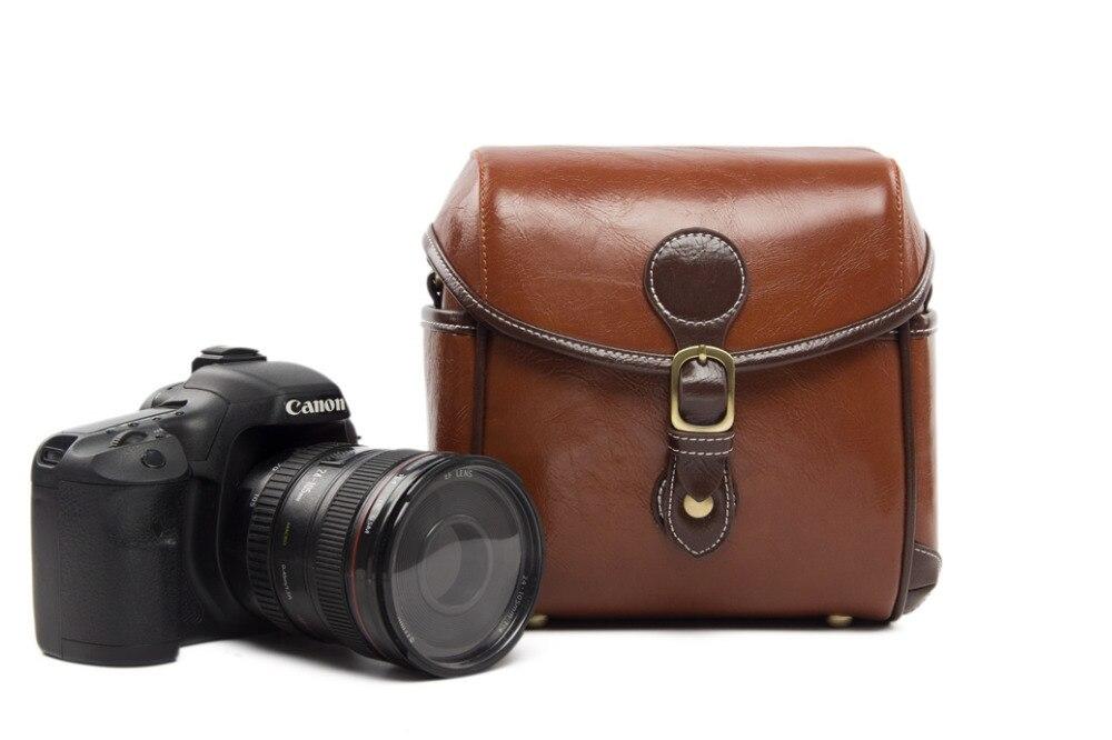 PU Leather DSLR Camera Bag Vintage Shoulder Bags Canon 60D 600D 650D 1100D Photo Nikon D3100 D5100 288 - Rock Cow Store store
