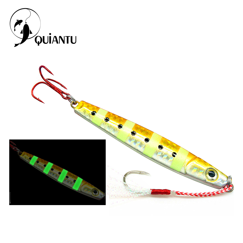 QUIANTU Fishing Lure Jigging Spoon 25g/<font><b>40g</b></font>/60g/80g <font><b>Jig</b></font> bait Lure Casting <font><b>Metal</b></font> Spanish mackerel Fishing Hooks Pesca Bass Bait image