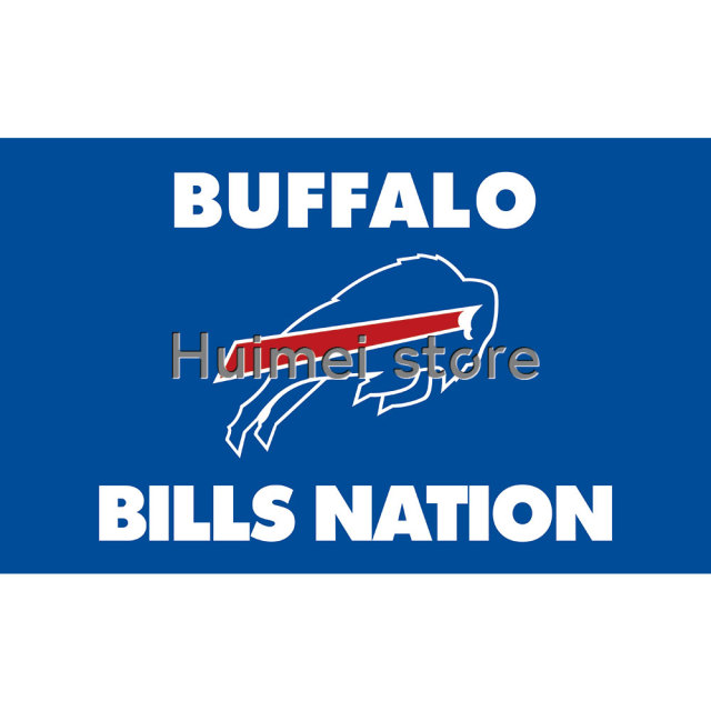Buffalo Bills Flag Team Colors Super Bowl Champions 3 X 5ft Banner Custom  Bills Flags Banner BILLS NATION FLAG 048383f54