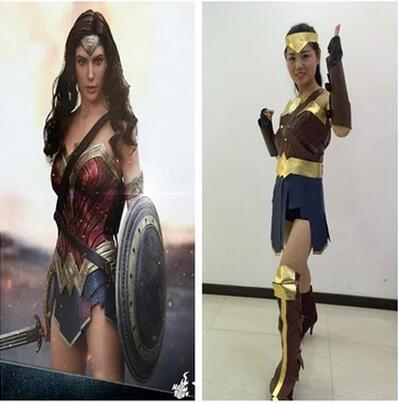 Wonder Woman Costume Inspired By Batman v Superman Dawn of Justice League For Halloween Carnival Party