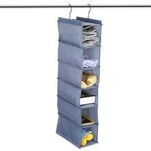 6-Tier Wardrobe Closet Hanging Shelf Shoes Clothes Garment Storage Organizer