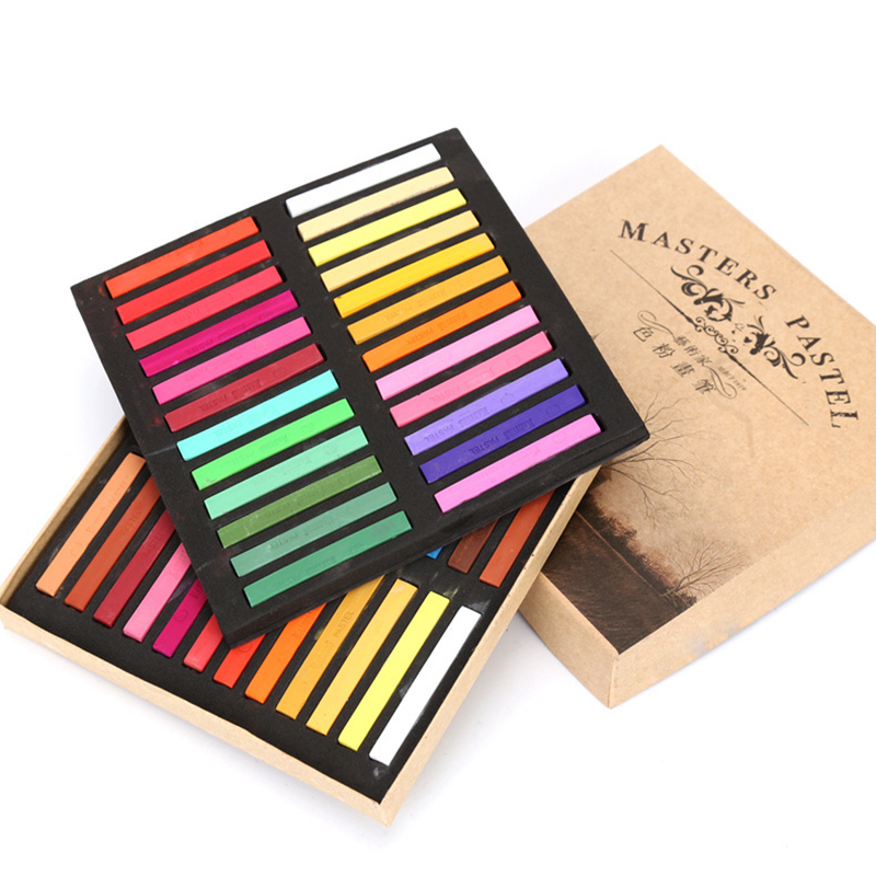 12/24/36/48 Colors Solid Water Color Paint Set With Water Brush Pen Master Paint Watercolor Pigment For Drawing Art Supplies