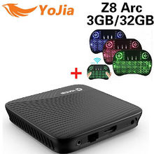 Yojia Amlogic S912 Android 7.1 TV KUTUSU Z8 Ark DDR4 Octa Çekirdek 2/3 GB 16/32 GB Çift WIFI Media Player PK M8S Pro H96 Pro TV kutu