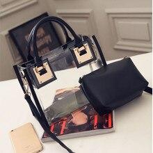 HB @ INS горячая Распродажа Черная прозрачная сумка на плечо чистый цвет сумка желе конфеты пляжная сумка Messeng сумка