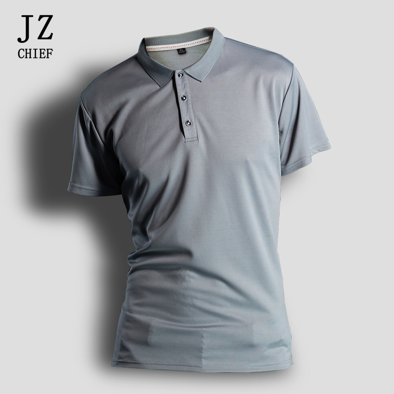 Duick Dry Polo Shirt Men Breathable Sportswear Mens Solid Polo Shirts Summer Short Sleeve Work Out Polos