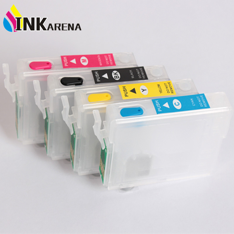 16 16XL Ink Cartridge for Epson Workforce WF-2010W WF-2510WF WF-2520 WF-2530WF WF-2540 Printer T1631 T1634 T1621 With Reset Chip high yield page 10k compatible laser printer chip for epson workforce aculaser m300 reset toner cartridge chip