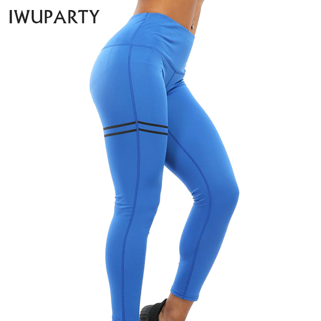 Women Sexy Yoga Pants High Waist Fitness Sport Leggings Solid Stretch Printed Casual Workout Running Leggins Gym Slim Butt Booty
