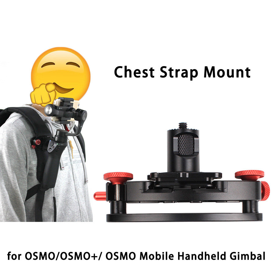 Backpack Chest Strap Belt Mount Attaching Clamp Retaining Clip for DJI OSMO/ +/ OSMO Mobile Handheld Gimbal Camera camera belt clip fast loading holster metal hanger waist belt buckle button mount clip for dslr camera carry tools brand new