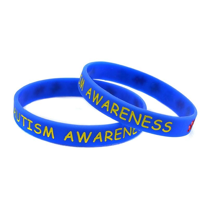 Autism Awareness Caoutchouc Silicone Bracelet Bracelet Bijoux 5 Couleur