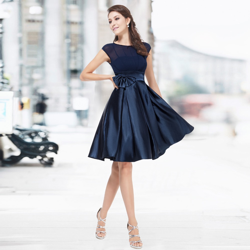 Cap Sleeve Cocktail Dress Knee Length Promotion-Shop for ...