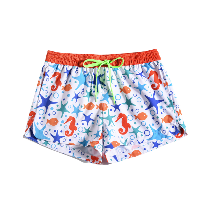 Quick-drying 3D Shorts Beach Womens Creative Graffiti Drawstring Elastic Tape Loose Board Shorts Bermuda 2019 Summer Holiday Price $17.99