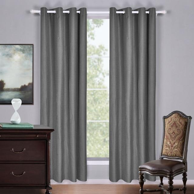 sunnyrain 1 pi ce de luxe gris rideau d 39 occultation pour chambre rideau pour salon rideaux. Black Bedroom Furniture Sets. Home Design Ideas