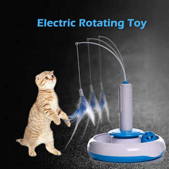 Cat Toy Cat Puzzle Pet Fun Electric Automatic Rotating Play Interactive IQ Training Toys Plush For Kitty Cat Scratching Toy - DISCOUNT ITEM  30 OFF Home & Garden