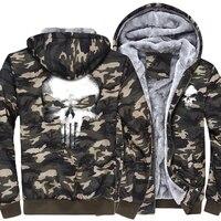 Men S Brand Clothing Camouflage Thick Hoodies 2018 New Fashion Streetwear Hip Hop Sweatshirts Men Punisher