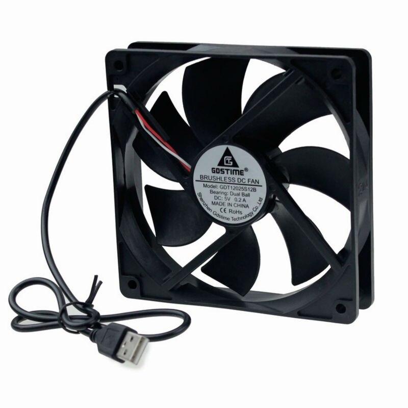 GDSTIME Yellow Wing Fan Replacement for 75mm VGA GPU Video Card fan 0.16A 2 Pin