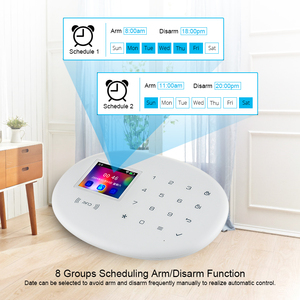 Image 5 - KERUI W20 Wireless Smart Home WIFI GSM Sicherheit Alarm System Mit 2,4 zoll TFT Touch Panel RFID CardBurglar Alarm
