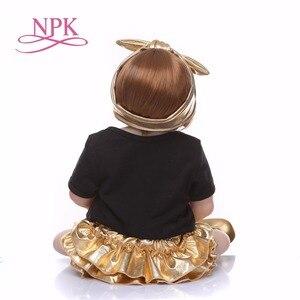 Image 5 - Npk 56cm boneca de silicone de corpo inteiro, renascida, vida real, princesa, bebê, boneca para presente do dia das crianças natal gif à prova d água