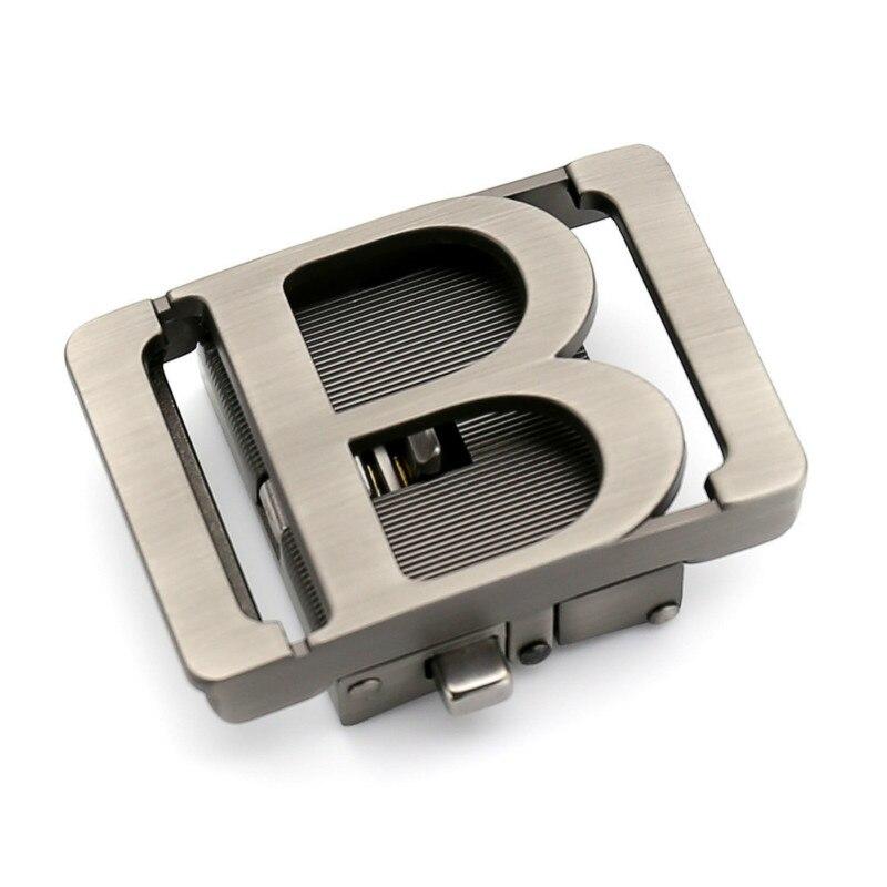 Genuine Men's Belt Head, Belt Buckle,Leisure Belt Head Business Accessories Automatic Buckle B 3.5CM Luxury Fashion LY155-561667