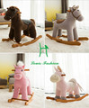 Export  factory direct children rocking horse  baby toy wooden rocking chair rocking horse toy