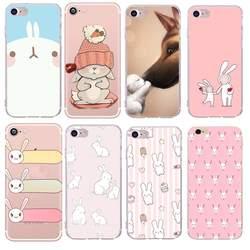 Чехол с мультяшной собачкой, чехол-Кролик для чехла iPhone 5S, милый кролик, телефон, Капа, мягкие животные для Funda iPhone X 7 8 plus 6 6s se Coque