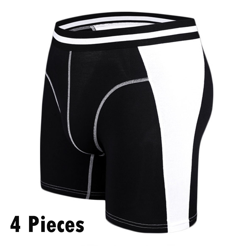 NXY brand Cotton cueca boxer 4pcs/set mens underwear males long pants mens gift