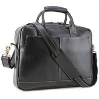 Весть наивысшего качества мужской портфель кожаная сумка через плечо ноутбуков черная сумка 10197
