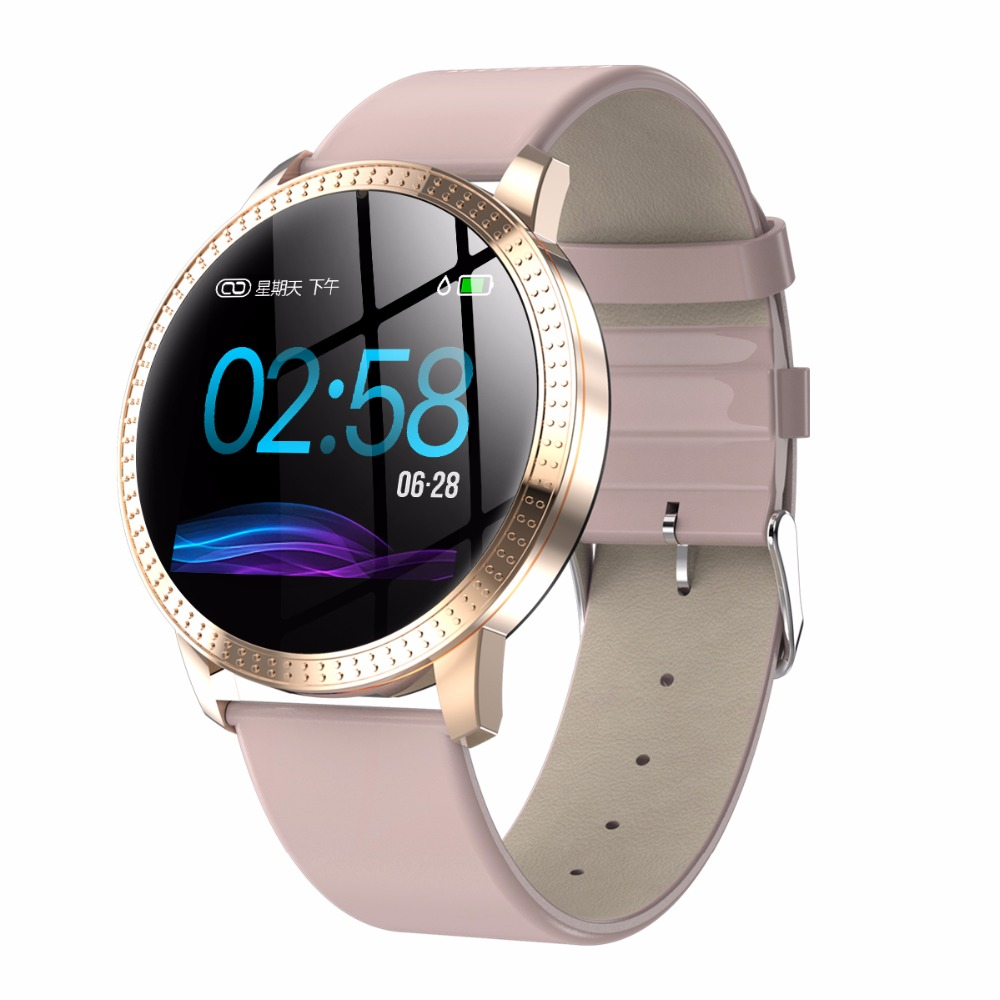 Mujer Fitness Reloj inteligente mujeres corriendo Reloj Monitor de ritmo cardíaco podómetro de Bluetooth táctil inteligente Reloj deportivo para correr