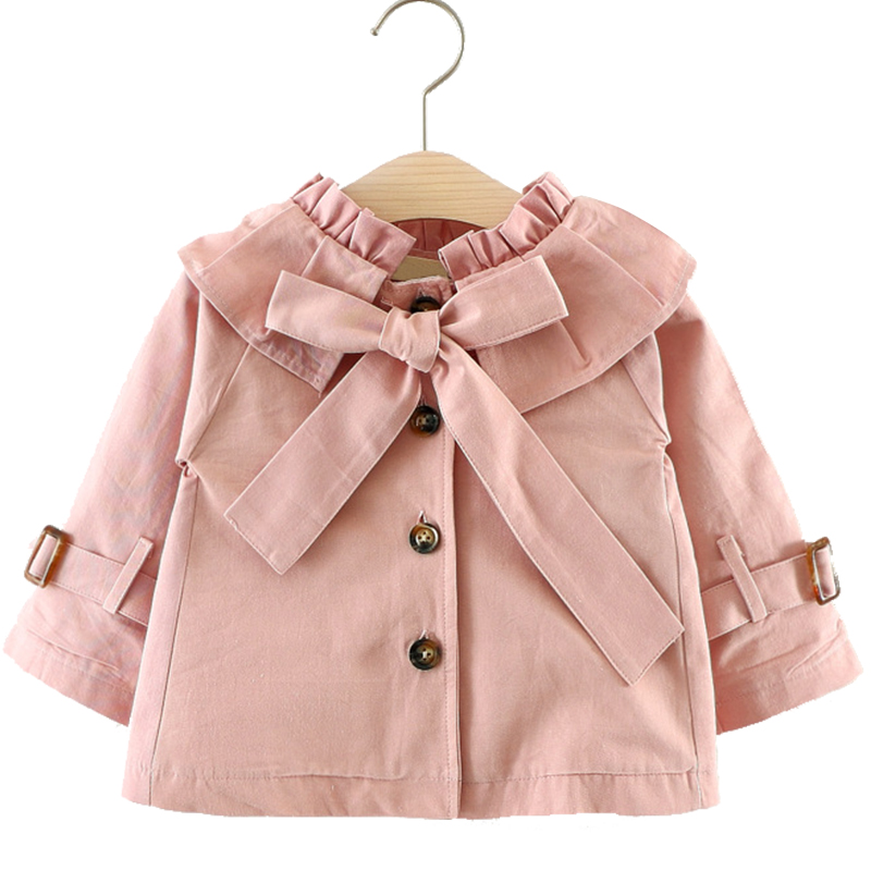 Toddler Girl Coat Spring Autumn Cotton Big Bow Jacket Baby Girl Windbreaker Jacket Children Clothes Outerwear Kids Clothing 1-3Y winter girl children clothing thick jacket coats for toddler teenage kids girl clothes outfits windbreaker jacket outerwear coat