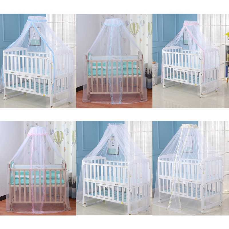 Baby Bed  Mosquito Net Cover with Lace Foldable and Breathable Mesh Net with Royal Court Style Canopy for Cribs