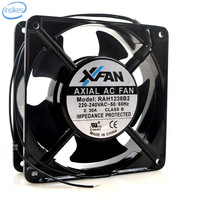 RAH1238B2 Ball High Temperature Aluminum Metal Cooling Fan AC 100V 0.3A 12038 12CM 120*120*38mm 2 Wires 50/60HZ