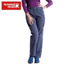 RZEKI DO BIEGANIA Marki Kobiety Piesze Wycieczki Spodnie Rozmiar S-3XL 2 kolory Ciepłe Na Zewnątrz Camping Spodnie Dla Kobiet Zima Odzież Sportowa # P4452