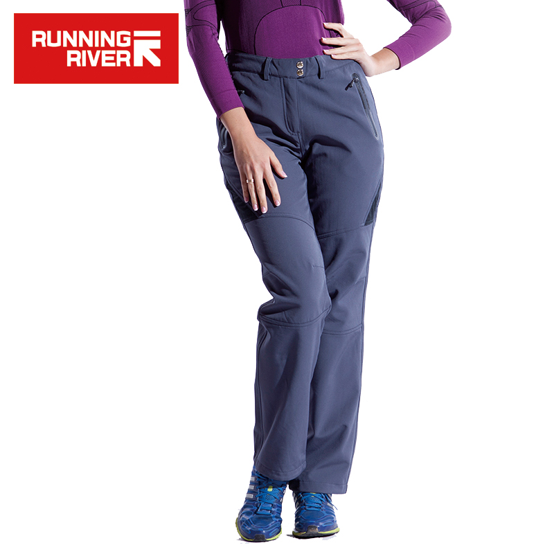 RUNNING RIVER Brand Women Hiking Pants Size S - 3XL 2 Colors Warm Outdoor Camping Pants For Woman Winter Sports Clothing #P4452