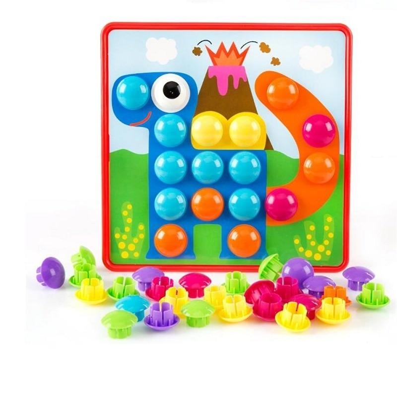 Montessori 10pcs Set Button Nail Puzzle Kids Toys For