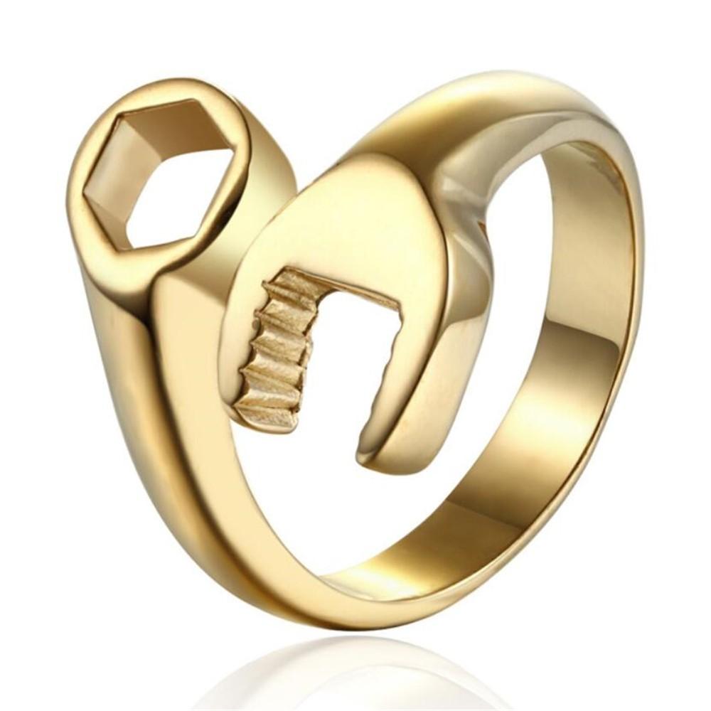 HTB1 uZfNXXXXXa9XVXXq6xXFXXXC - Men's Wrench Automotive Style Titanium Ring