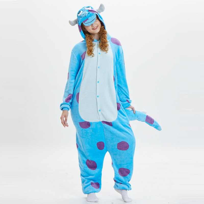 Monsters Inc Sullivan Onesies For Adults Monstruos University Kigurumi Animal Pajamas Flannel Warm Cosplay Costume Party Pajamas Aliexpress