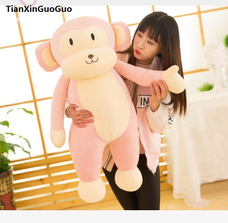 stuffed toy large 95cm pink monkey plush toy lovely cartoon monkey very soft doll hugging pillow birthday gift b0781 stuffed plush toy large 95cm lovely