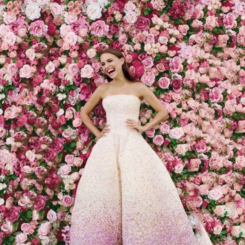 60 40 Cm Kunstliche Blumen Diy Stoff Seide Blumen Wand Hochzeit
